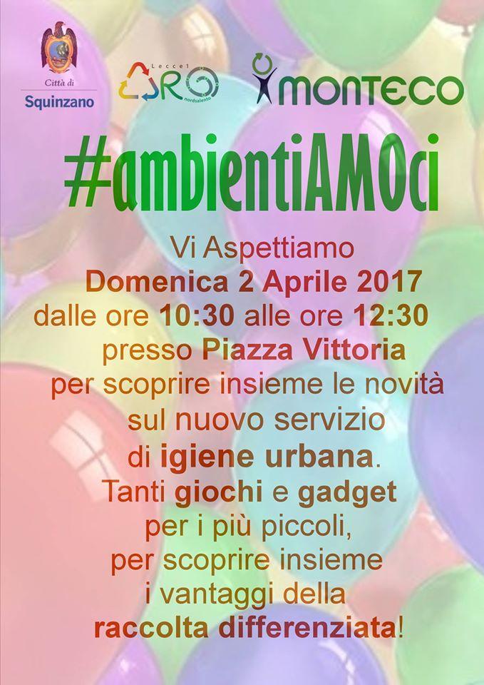 #ambientiAMOci: a Squinzano incontro informativo sul Nuovo Servizio di Igiene Urbana