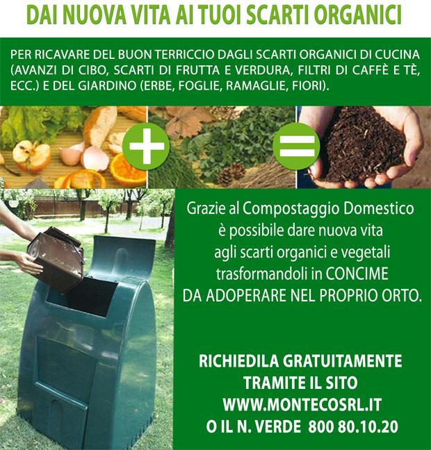 Compostaggio Domestico.E' possibile richiedere una compostiera in comodato d'uso gratuito