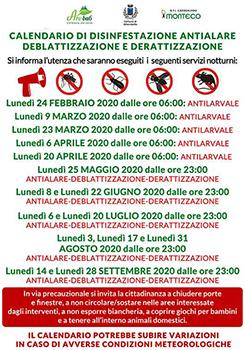 Alberobello: calendario di disinfestazione antialare, deblattizzazione e derattizzazione