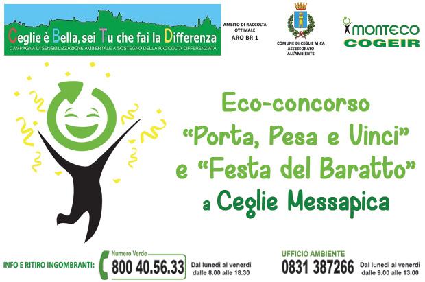 """Ceglie M.ca. """"Porta, Pesa e Vinci"""" e """"Festa del Baratto"""""""
