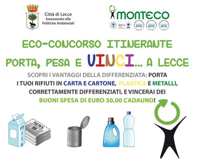 Monteco premia i cittadini più sensibili alla raccolta differenziata