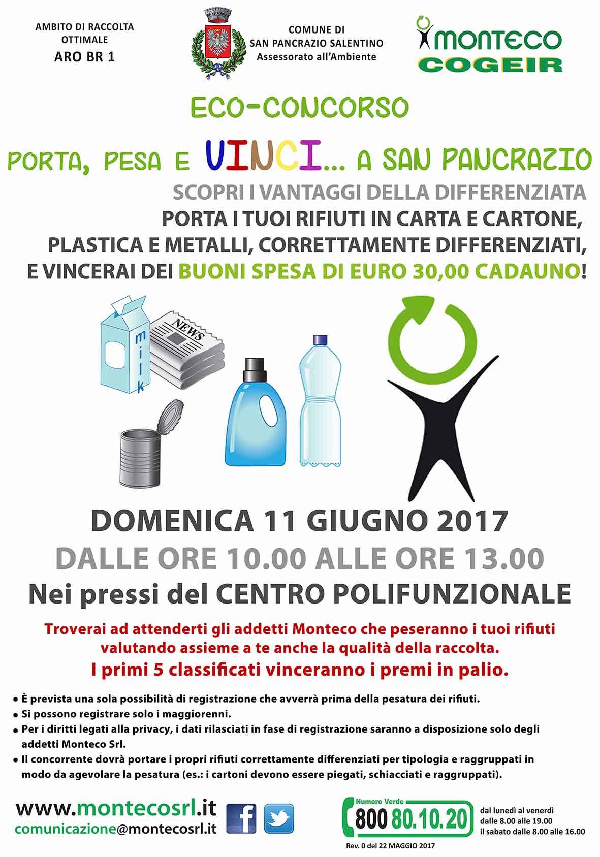SAN PANCRAZIO SALENTINO: Porta, Pesa e Vinci, l'eco-concorso che ti premia con la differenziata