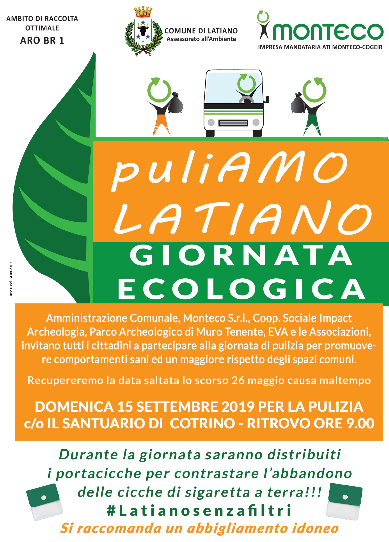 """Latiano. Giornata ecologica """"PuliAMO Latiano"""""""