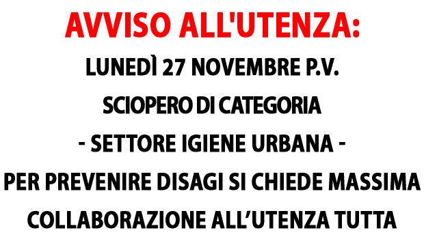 Lecce. Gli operatori ecologici hanno proclamato lo sciopero per la giornata di lunedì 27 novembre p.v.